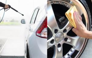 Skal bilen vaskes & tørres?