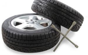 Sommerklar bil med hjulskift