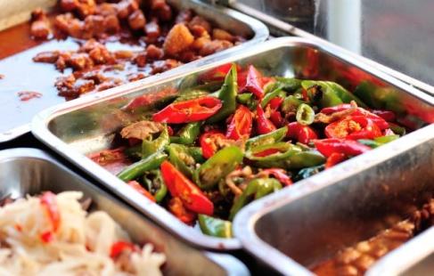 Stor asiatisk buffet