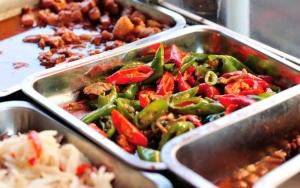 Overdådig kinesisk buffet