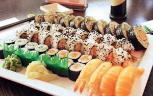 Frisklavet sushi