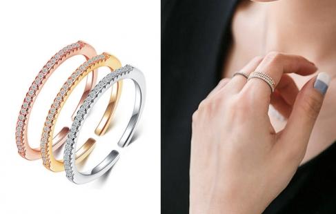 Smuk ring med zirkoner