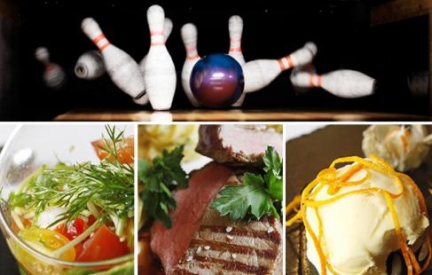 Bowling OG 3-retters menu