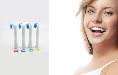 Friske tandbørstehoveder
