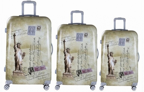 Kuffertsæt med smart motiv