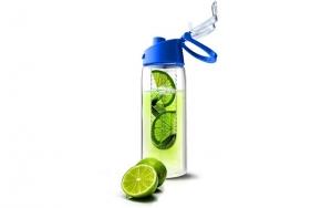 Vandflaske med beholder