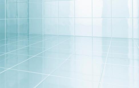 Skinndende rent badeværelse