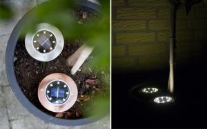 LED-spot med solceller