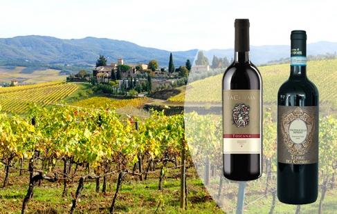 6 flasker italiensk nydevin