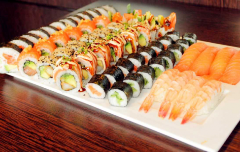 Kæmpe sushimenu