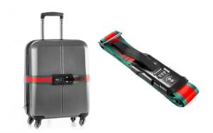 Bagagestrop med kuffertvægt