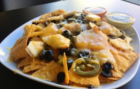 Sprøde nachos med kylling