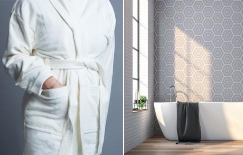 Luksuriøs og blød badekåbe