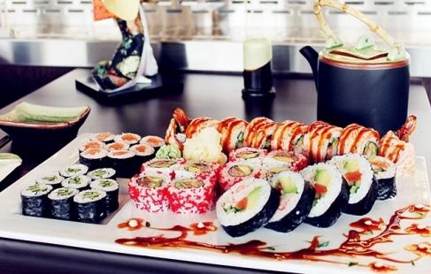 Kæmpe sushi-menu