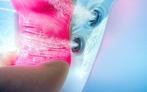 Velgørende vandmassage
