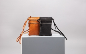 Mobiltaske i ægte læder