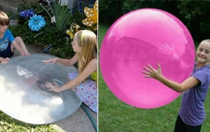 Sommersjov med Bubble Ball