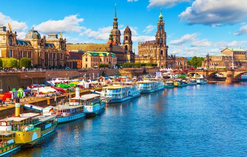 Dresden med tog