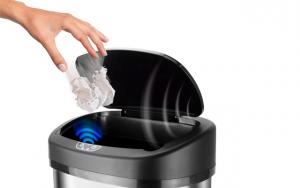 Affaldsspand med sensor