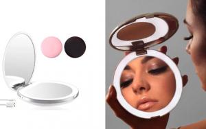 Makeupspejl med lys