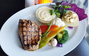 Saftig steak og dessert